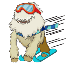 Yeti On The Way sticker #8262856