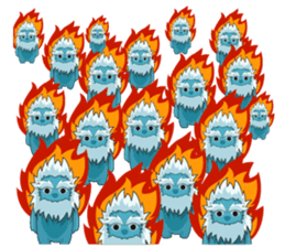 Yeti On The Way sticker #8262870