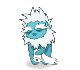 Yeti On The Way sticker #8262881