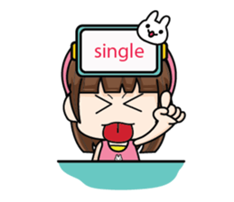 Because I'm single (EN) sticker #8283802