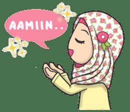 Flower Hijab : Daily Talk sticker #8286519