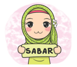 Flower Hijab : Daily Talk sticker #8286526