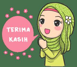 Flower Hijab : Daily Talk sticker #8286527