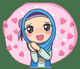 Flower Hijab : Daily Talk sticker #8286530