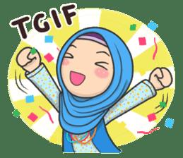 Flower Hijab : Daily Talk sticker #8286531