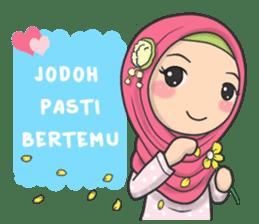 Flower Hijab : Daily Talk sticker #8286535