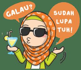 Flower Hijab : Daily Talk sticker #8286554