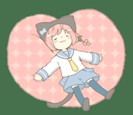 Cat ear girl Necoco part 4 sticker #8290806