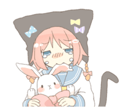 Cat ear girl Necoco part 4 sticker #8290824