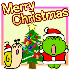 Frog's Christmas sticker.