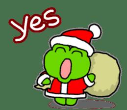 Frog's Christmas sticker. sticker #8297918