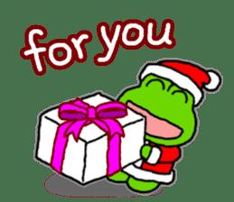 Frog's Christmas sticker. sticker #8297921
