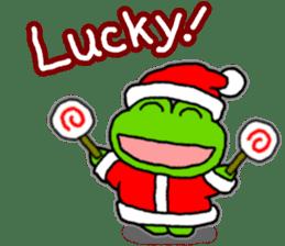 Frog's Christmas sticker. sticker #8297923