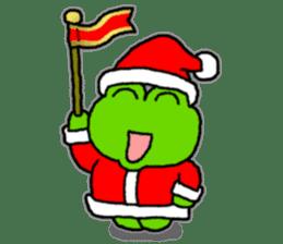 Frog's Christmas sticker. sticker #8297926