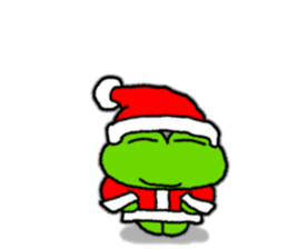 Frog's Christmas sticker. sticker #8297927