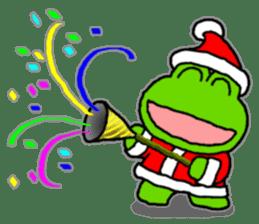 Frog's Christmas sticker. sticker #8297929