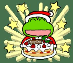 Frog's Christmas sticker. sticker #8297930