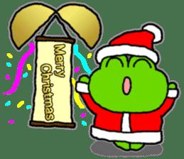 Frog's Christmas sticker. sticker #8297931