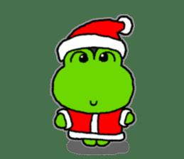 Frog's Christmas sticker. sticker #8297933