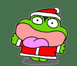 Frog's Christmas sticker. sticker #8297939