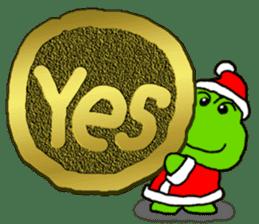 Frog's Christmas sticker. sticker #8297940