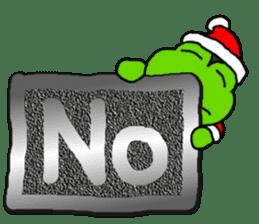 Frog's Christmas sticker. sticker #8297941