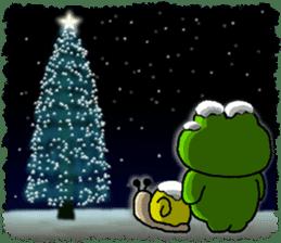 Frog's Christmas sticker. sticker #8297942