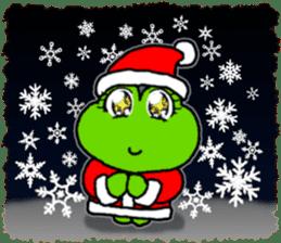Frog's Christmas sticker. sticker #8297945