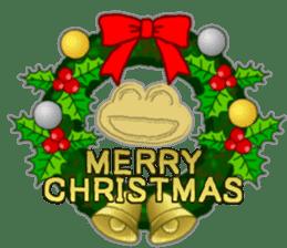 Frog's Christmas sticker. sticker #8297951