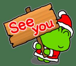 Frog's Christmas sticker. sticker #8297954
