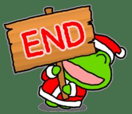 Frog's Christmas sticker. sticker #8297955