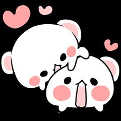 cute Bear to shout love Life.