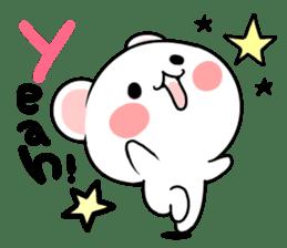 cute Bear to shout love Life. sticker #8298476