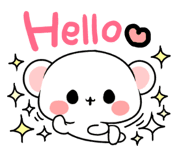 cute Bear to shout love Life. sticker #8298477