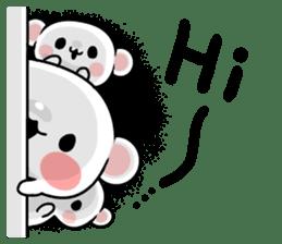 cute Bear to shout love Life. sticker #8298489