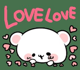 cute Bear to shout love Life. sticker #8298491