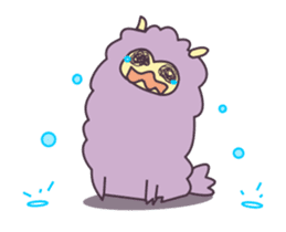 Little Purple Llama: Llamita sticker #8306354