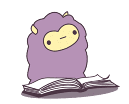 Little Purple Llama: Llamita sticker #8306357