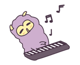 Little Purple Llama: Llamita sticker #8306367