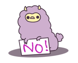 Little Purple Llama: Llamita sticker #8306368