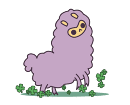 Little Purple Llama: Llamita sticker #8306378