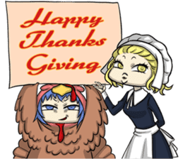 AOL ; Thanksgiving sticker #8306567