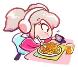 RuRu - Gamer girl sticker #8313197