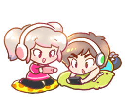 RuRu - Gamer girl sticker #8313218