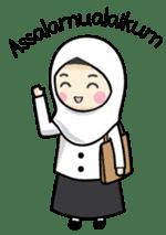 Jasmin Muslimah Student sticker #8325908