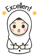 Jasmin Muslimah Student sticker #8325909