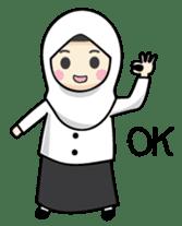 Jasmin Muslimah Student sticker #8325910