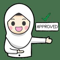 Jasmin Muslimah Student sticker #8325911