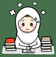 Jasmin Muslimah Student sticker #8325914