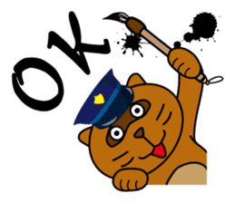 The police of leopard cat (English) sticker #8333393
